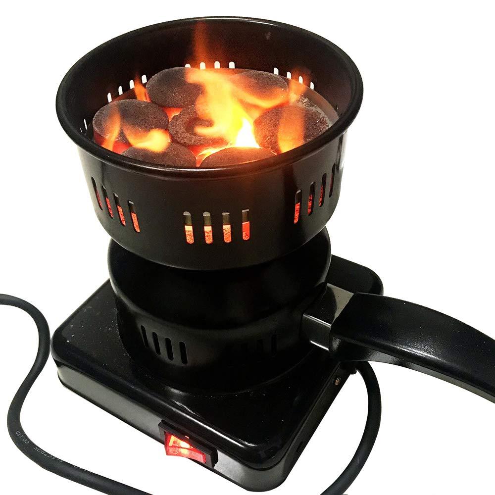 Cherish XT Electric Hookah Charcoal Starter Burner Shisha BBQ Starter Coal Burner with Removable Tray and Detachable Tongs (220V)