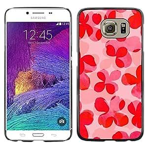 Be Good Phone Accessory // Dura Cáscara cubierta Protectora Caso Carcasa Funda de Protección para Samsung Galaxy S6 SM-G920 // Floral Pattern Pink Peach Summer