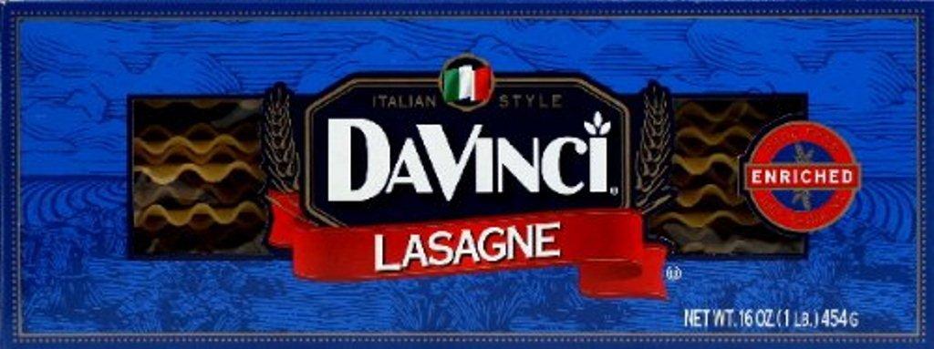 DaVinci Lasagna, 16-Ounces (Pack of 12)