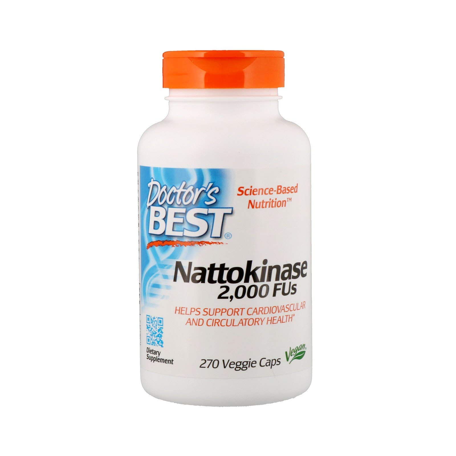 Doctor's Best Nattokinase - 270 ct (Pack of 2)