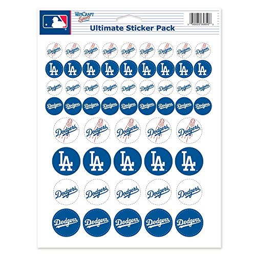 (Los Angeles Dodgers Official MLB 8.5 inch x 11 inch Sticker Sheet by Wincraft)