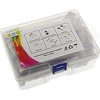 Generic 1490pcs Electronic Components Basic Starter Kit Assortment LED Diodes Transistor Electrolytic Capacitors…