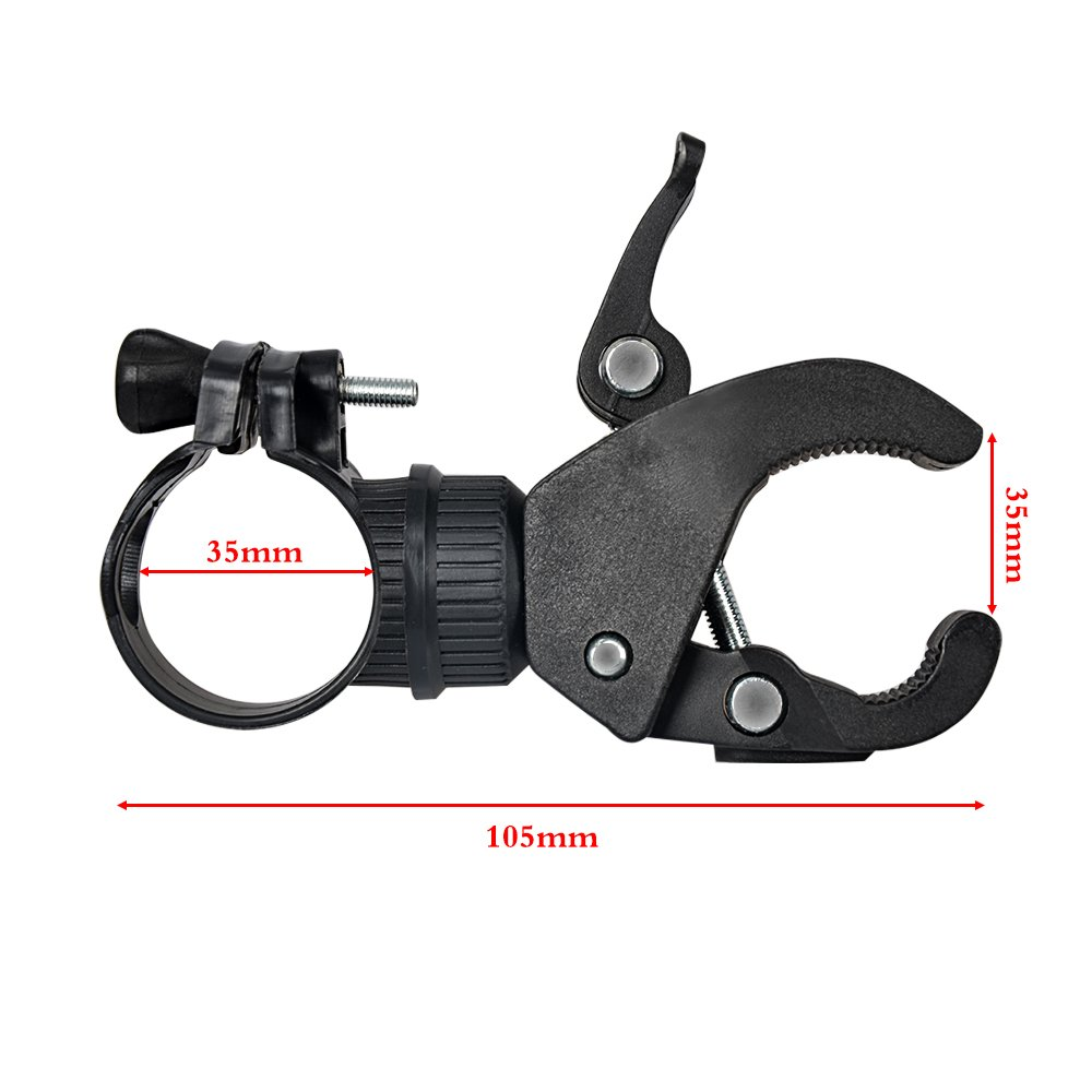 MyArmor Universal Bike Torch Clip Bicycle Cycling Handlebar / Front Rear Wheel Bar / Front Light Bracket Flashlight Holder Stand