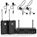 Wireless Microphone System,Fifine UHF Dual