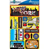 Reminisce Jet Setters Dimensional Stickers-New York