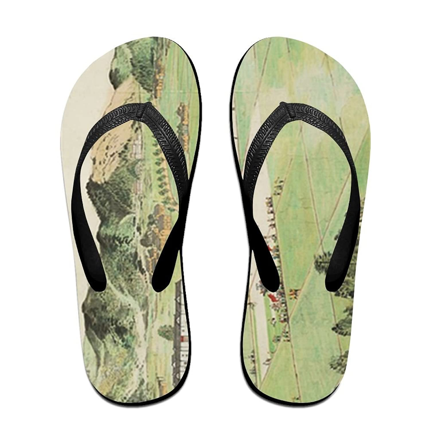 75af357b1f9a Jinqiaoguoji Customized Casual Antique Painting and Calligraphy auction  Chinese Painting Womens Sandals Beach Sandals Pool Party Slippers Flip Flops