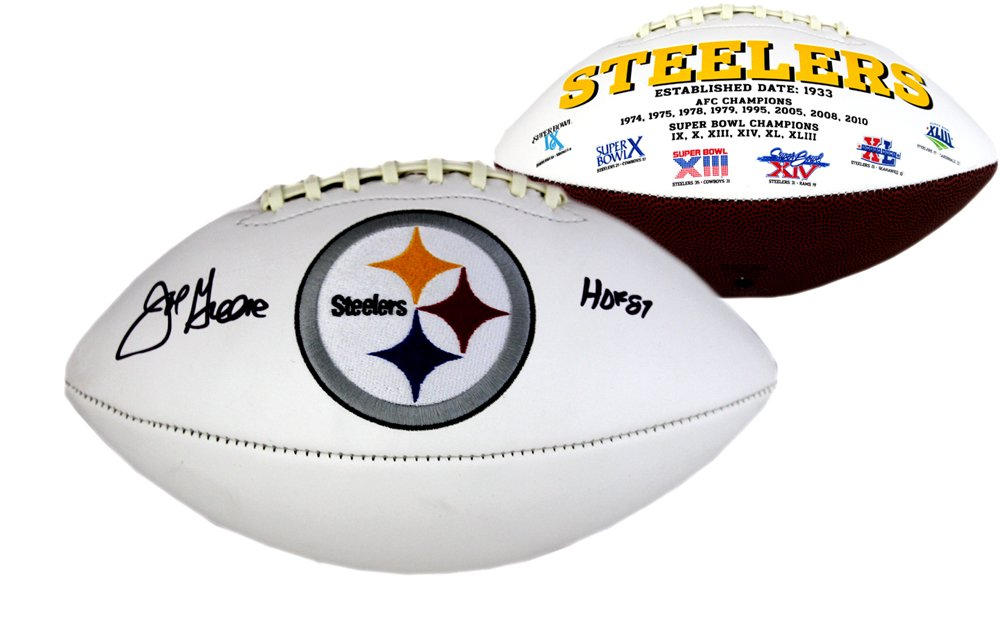 10cd8962a12 Joe Greene Autographed Signed Pittsburgh Steelers NFL Embroidered Football  with