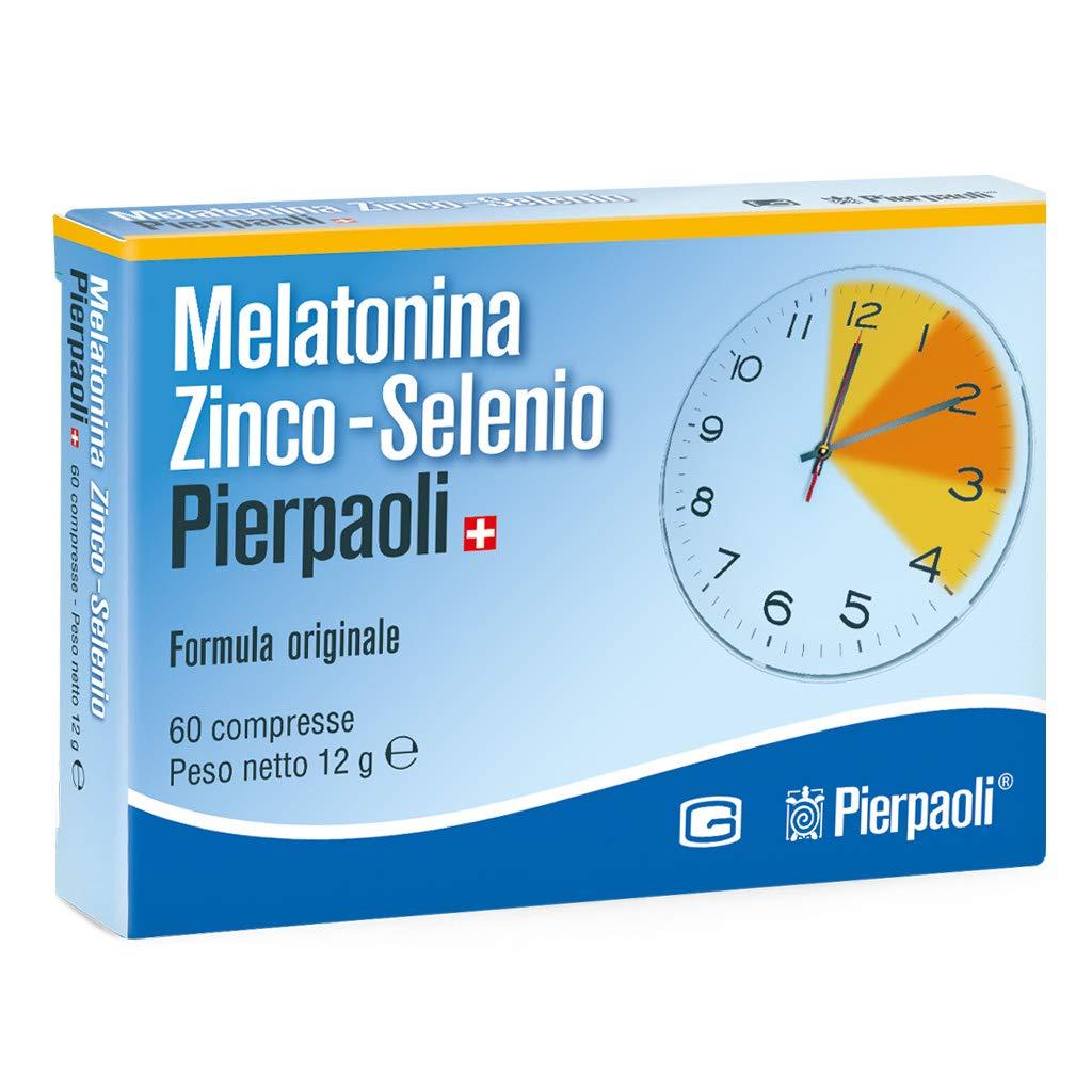 PIERPAOLI MELATONINA ZINCO-SELENIO 60 CPR: Amazon.es: Salud y ...