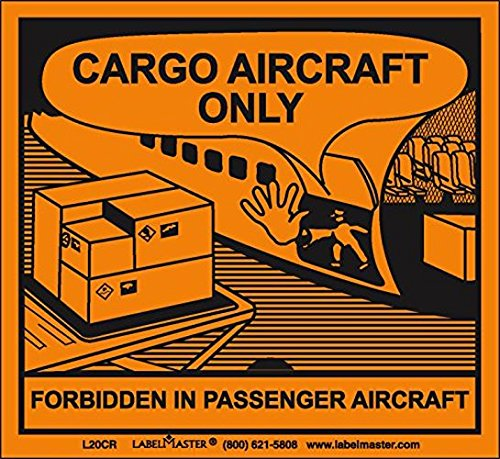 Label Cargo - Labelmaster L20CR Cargo Aircraft Only Label, Paper (Pack of 100)