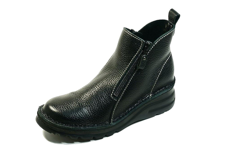 ショートブーツ 外反母趾 本革 両ファスナー スカート 4E B019LCXMOS 24.0 cm|ブラック ブラック 24.0 cm