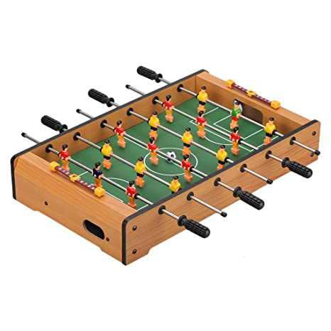 Beau Virhuck Mini Table Top Foosball 19 Inches Soccer Game Table Six Aixs Indoor  U0026 Outdoor Soccer