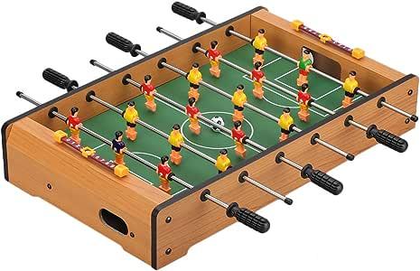 Virhuck Futbolin Foosball, Juego de fútbol de Mesa, Grano de Madera Juguete Navidad (19in): Amazon.es: Juguetes y juegos