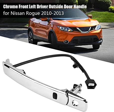 For 2010-2013 Nissan Rogue Car Front Left Outside Chrome Door Handle Smart Entry