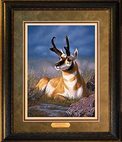 Tom Mansanarez Art - Desert King - Custom Framed Wildlife Art Print Ready to Hang on your wall! -