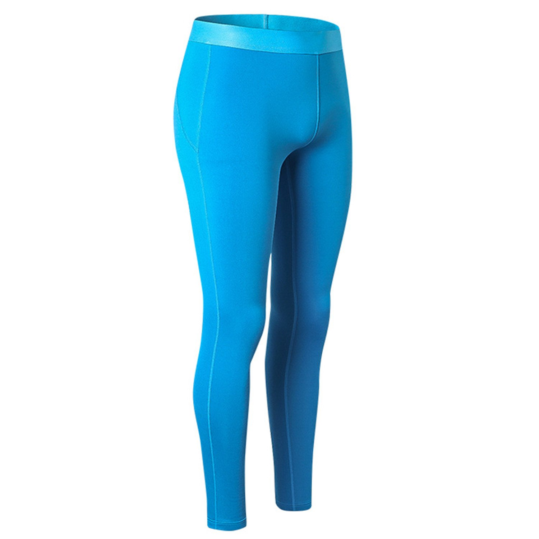 Dapengzhu Long Autumn Winter Warm Pants Women Quick Dry Anti-Bacterial Stretch Warm Thermal Underwear Women Long Blue M