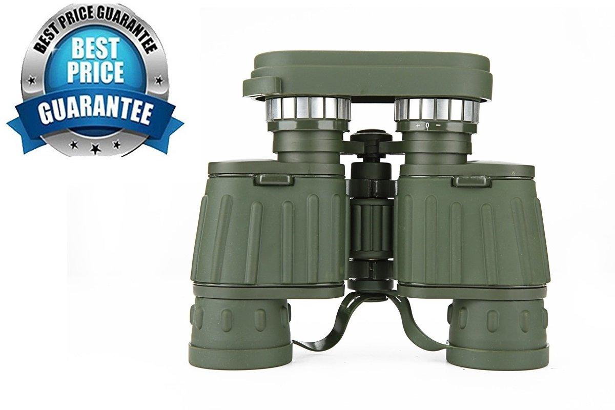 アウトドア望遠鏡、陸軍グリーンストライプ8 x 42双眼鏡、グリーンフィルム、低ライトNigh B074RH4ZXF