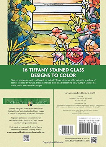 Creative Haven Tiffany Designs Stained Glass Coloring Book: Amazon ...