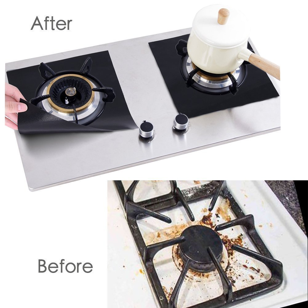 Non-stick Top Burner Gas Range Stove Cover Protector Reusable Liner Clean Cook