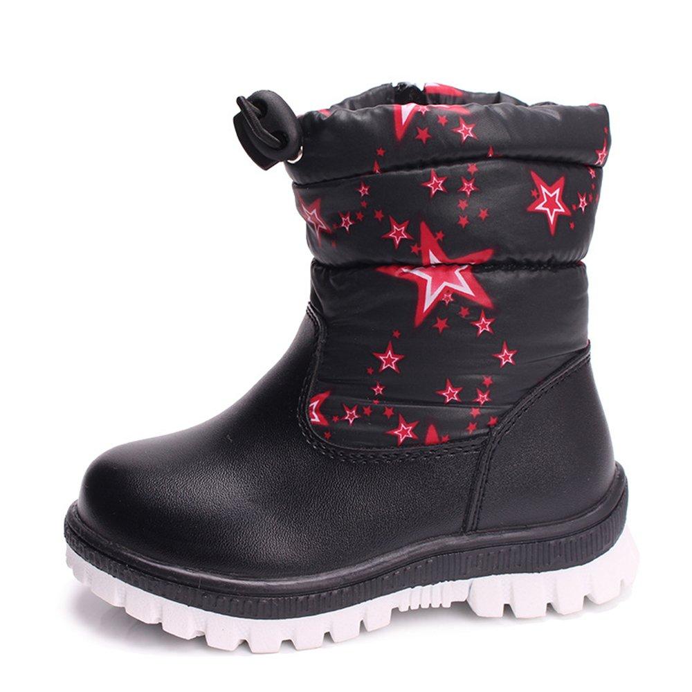 YUBUKE Boys Girls Toddler//Little Kids//Big Kids Frosty Winter Snow Boot Waterproof Boots