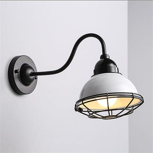 LED Moderna Lámpara de Pared Pequeña jaula de hierro de hierro forjado lámpara de pared creativa industrial retro escalera dormitorio pasillo lámpara de pared luz amarillaLED Lámpara de pared。: Amazon.es: Iluminación