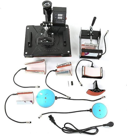 Máquina de Prensa de Calor Digital, 220V 1450W 8in1 Impresora de ...