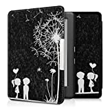 kwmobile Elegant synthetic leather case for the Kobo Glo HD (N437) / Touch 2.0 Design dandelion love in white black