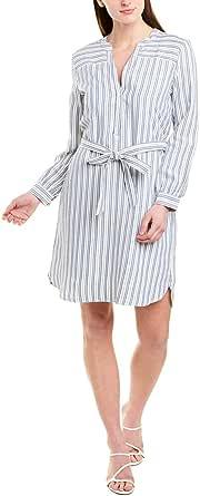 J.Crew Mercantile Women's Long-Sleeve Textured Stripe Shirt Dress