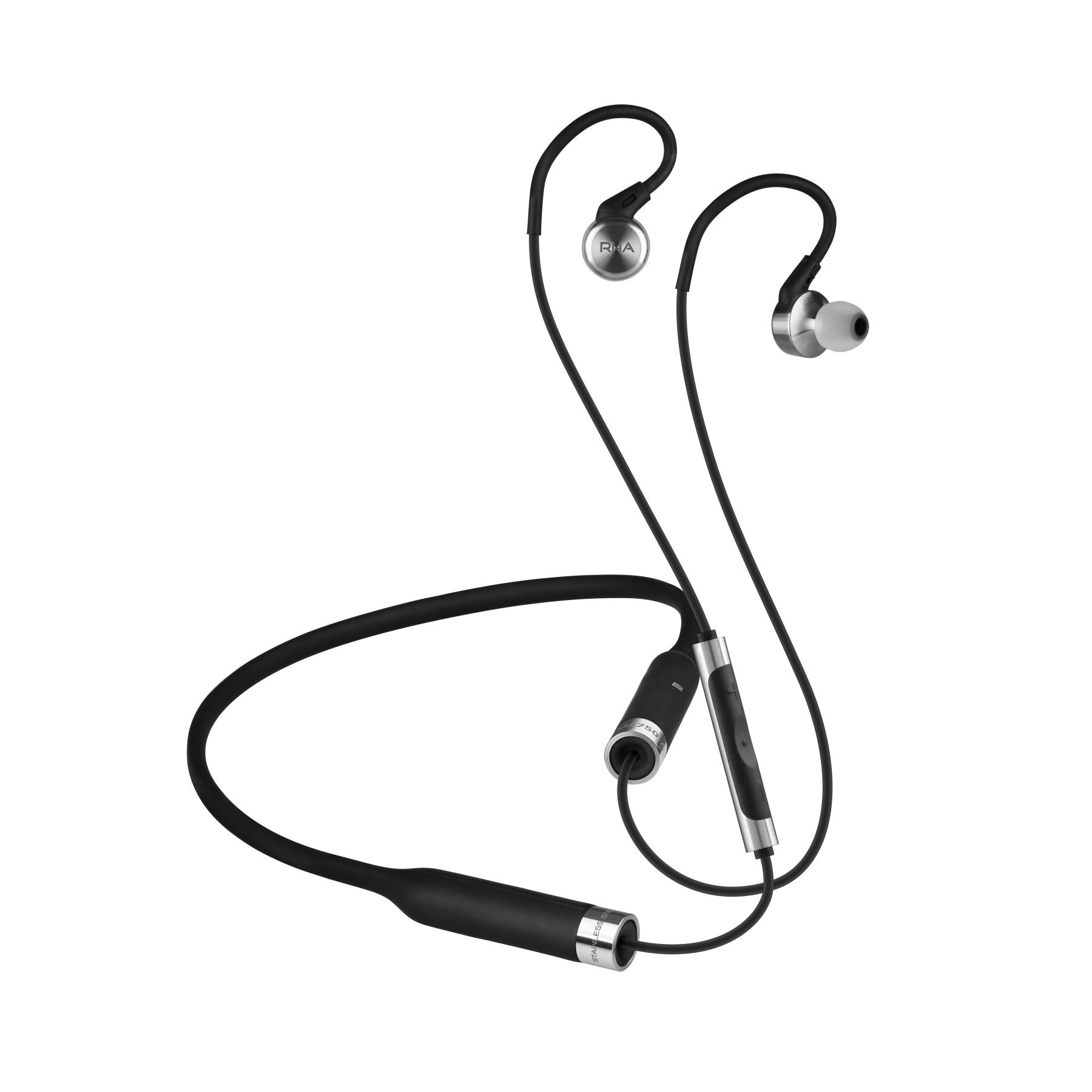 RHA MA750 Wireless: Noise Isolating Bluetooth In-Ear Headphones with Universal Remote & Microphone 12 Hour Battery Life