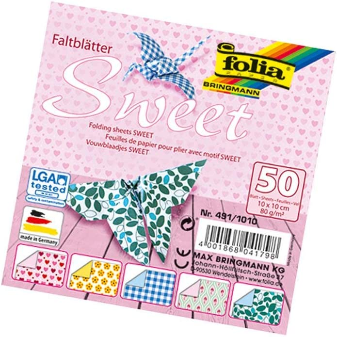 ideal f/ür wundersch/öne Faltfiguren und -formen folia 499//1010 80 g//qm 50 Blatt sortiert in 10 farblich aufeinander abgestimmten Vorder- und R/ückseiten Faltbl/ätter Duocolor 10 x 10 cm