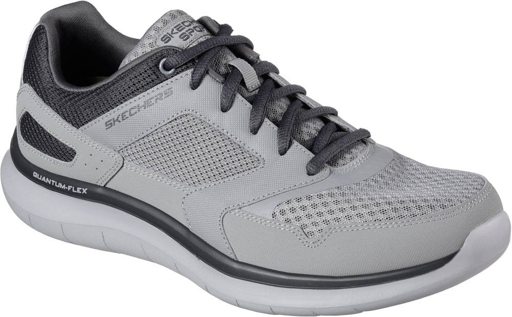 Skechers Quantum Flex-Hudzick, Zapatillas de Entrenamiento para Hombre 9 EE US|Gris/Carbón