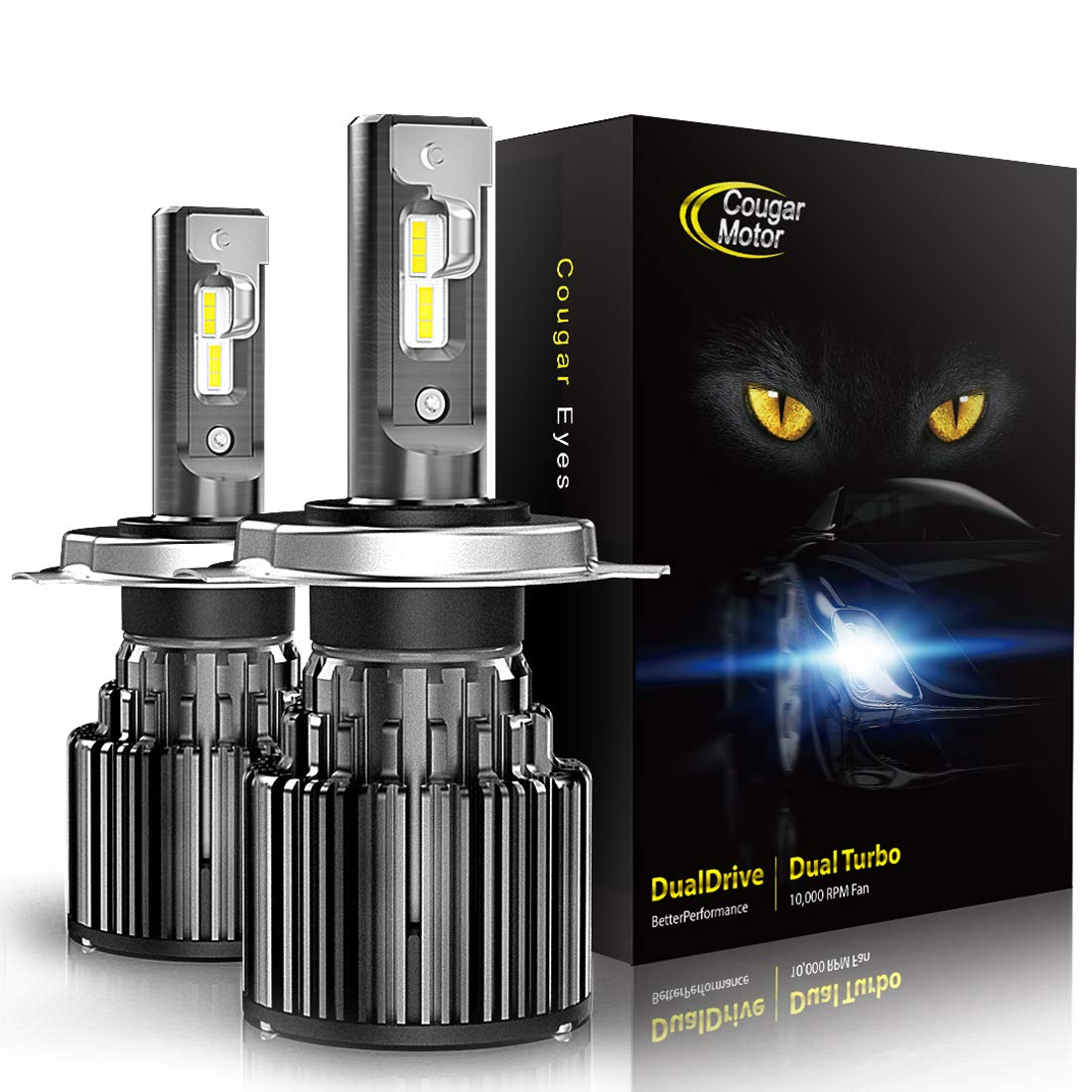 Cougar Motor-H4 LED Headlight Bulbs All-in-One Conversion Kit