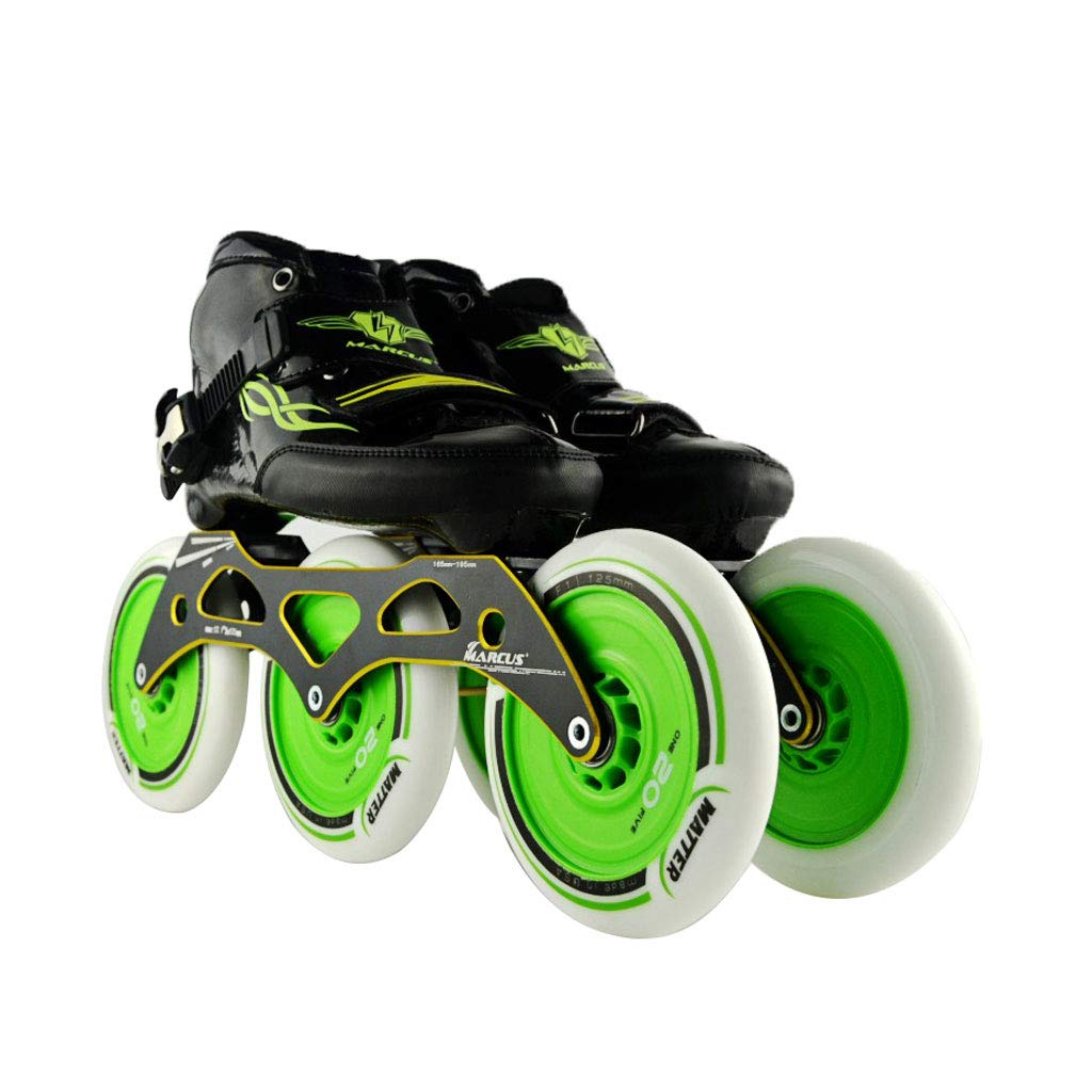 ailj スピードスケートシューズ3 * 125MM調整可能なインラインスケート、ストレートスケートシューズ(5色) (色 : Orange, サイズ さいず : EU 38/US 6/UK 5/JP 24cm) B07HVTJVX4 EU 43/US 10/UK 9/JP 26.5cm|Green Green EU 43/US 10/UK 9/JP 26.5cm