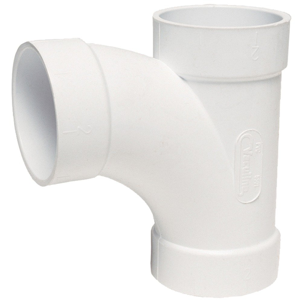 """New Vaculine 5506 2/"""" 90degree Elbow Central Vac White"""