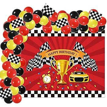 Black /& White Check Beverage Napkins 18 Pack Car Racing Birthday Party Decor