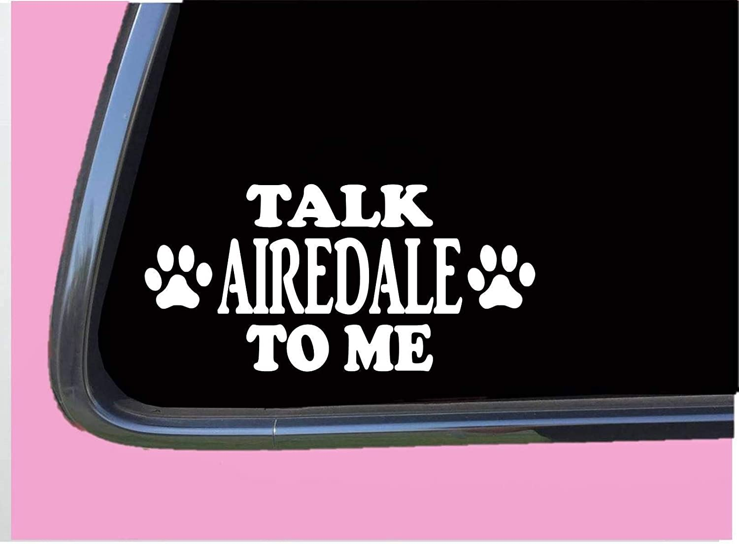 Talk Airedale Terrier to Me,Vinyl Window Decals for Bottle Laptop Cars Wall Art Quote Funny Stickers