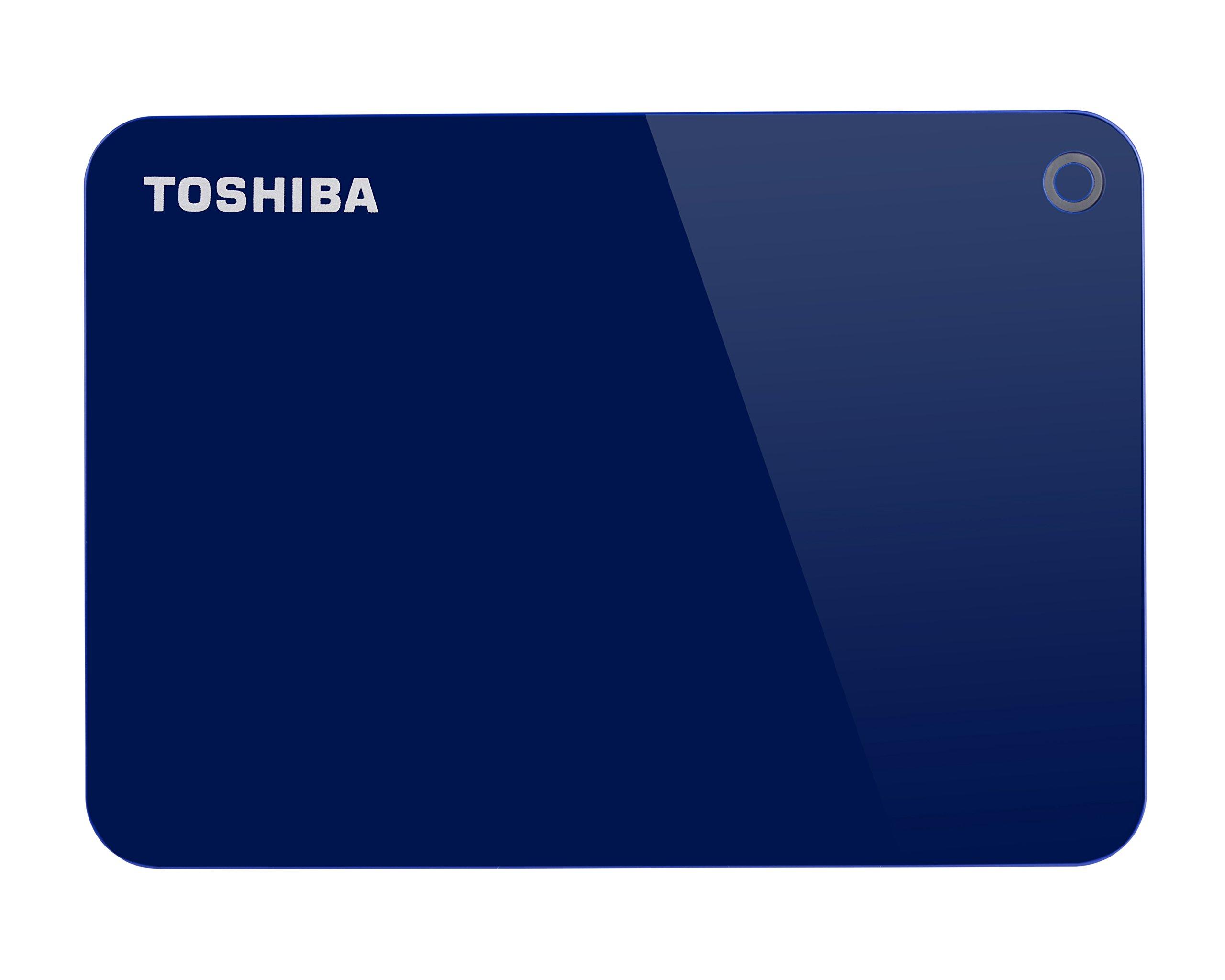 Toshiba Canvio Advance 1TB Portable External Hard Drive USB 3.0, Blue (HDTC910XL3AA) by Toshiba (Image #2)