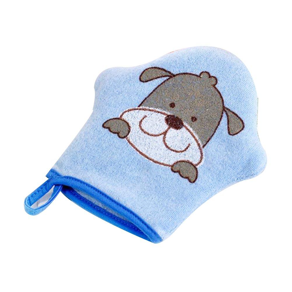 Rocita Baby Bath Glove Foam Sponge Shower Brush Animal Modeling Rub Towel Ball for Baby Children Scrub Wash Blue