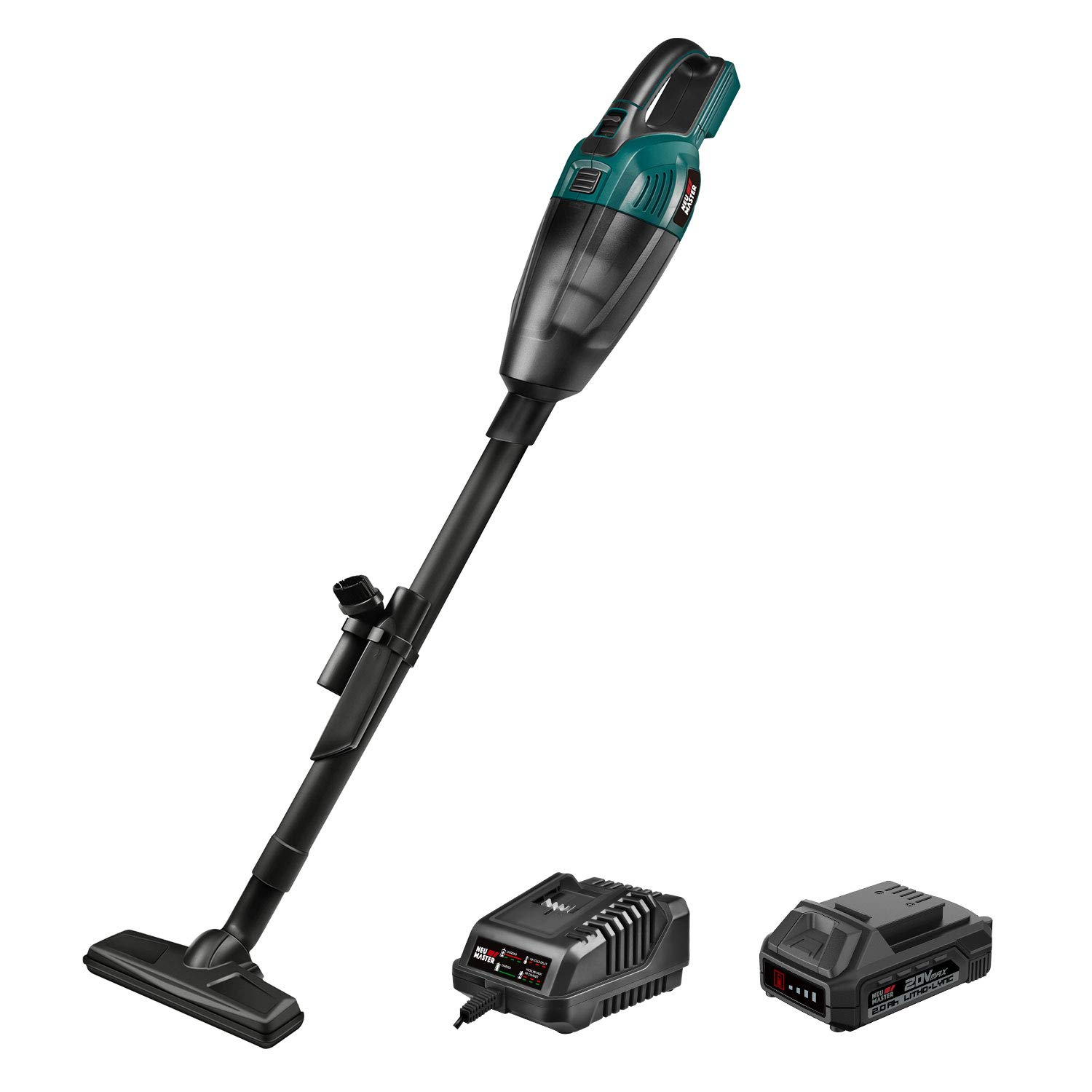 Cordless Vacuum, NEU MASTER Stick Vacuum Cleaner Kit, Powerful Lightweight Handheld Vacuum with Rechargeable Lithium Ion Battery