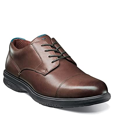 Nunn Bush Sparta Cap Toe Oxford(Men's) -Cognac Leather