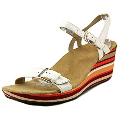 Amazon.com | Vionic Enisa Womens Backstrap Orthotic Sandal White - 5 |  Heeled Sandals
