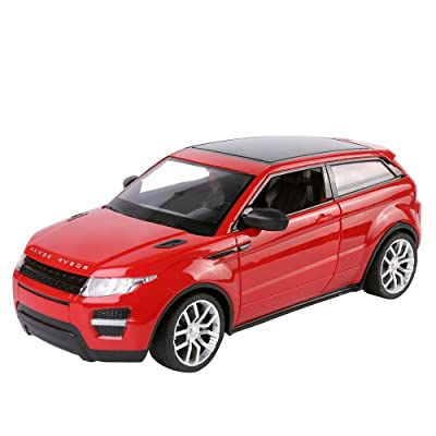 Best Price Center's All Terrain (Red) English Heritage 1:16 Scale Remote Control SUV Featuring LED Lights, Keyless Entry Doors, and Background Music for Kids Ages 3 Plus: Toys & Games