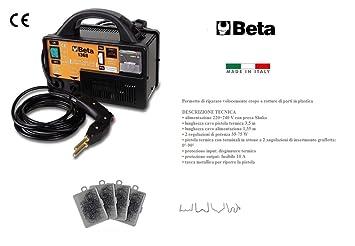 Beta 1368 Soldador Kit Reparador plástico parachoques + Surtido 400 CLIPS: Amazon.es: Coche y moto