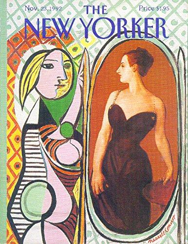New Yorker cover Connor Picasso in mirror 11/23 1992 (Mirror Picasso)