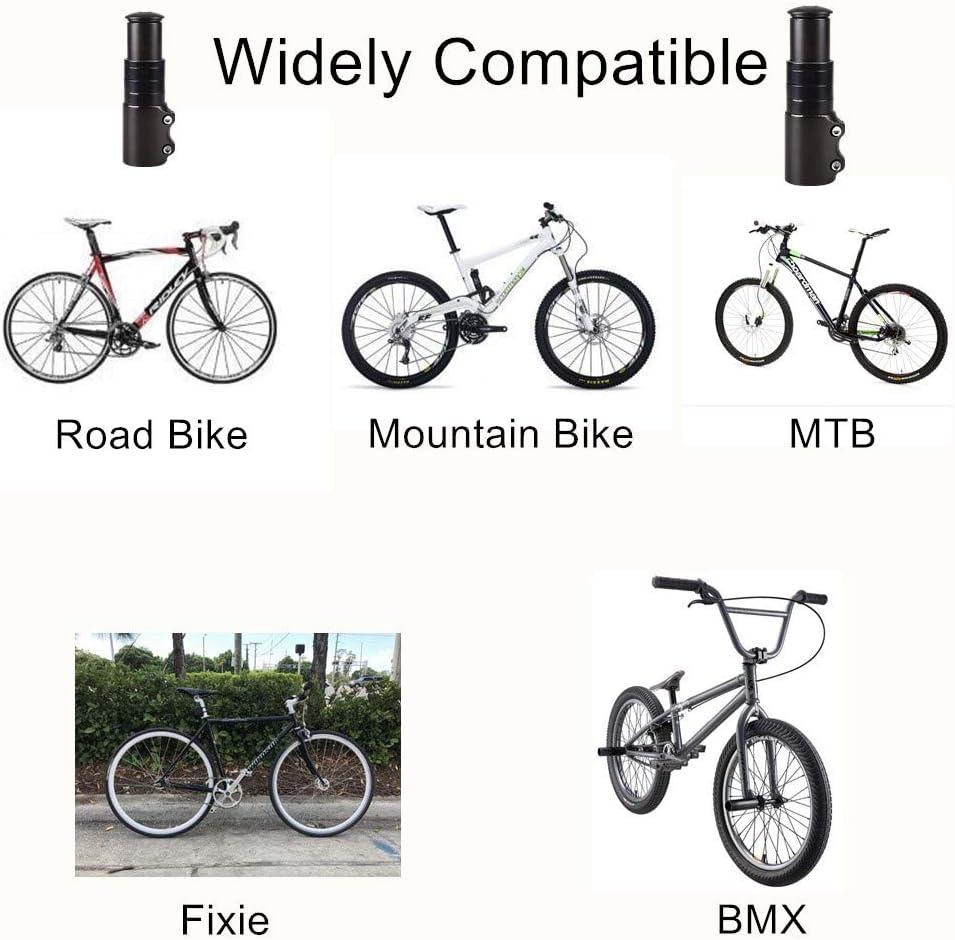 Junxave Tenedor de Bicicleta Extensor de Tallo aleación de ...