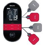 Beurer EM 59 Heat Digital TENS/EMS Massageapparat inkl. 4 Elektroder och Batteri, Grå/Röd