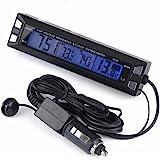 PolarLander Multifuncional 3 en 1 Reloj Digital del Coche del termómetro del voltímetro del Coche Interior