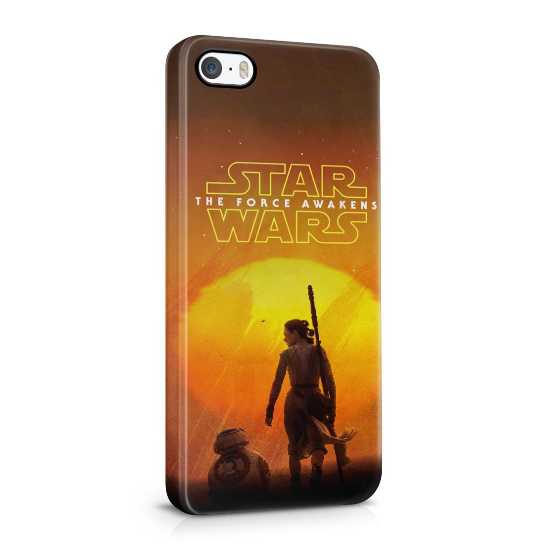 Star Wars The Force Awakens Rey With BB-8 Robot iPhone 5 / 5S Hard Plastic Phone Case Cover