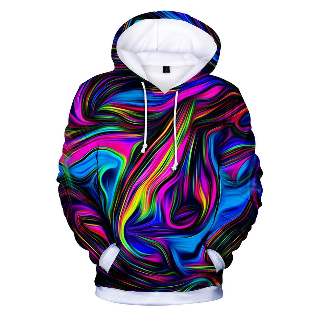 Goutique Unisex Realistic 3D Print Galaxy Pullover Hooded Sweatshirt Drawstring Hoodies with Big Pockets Funny Creative by Goutique