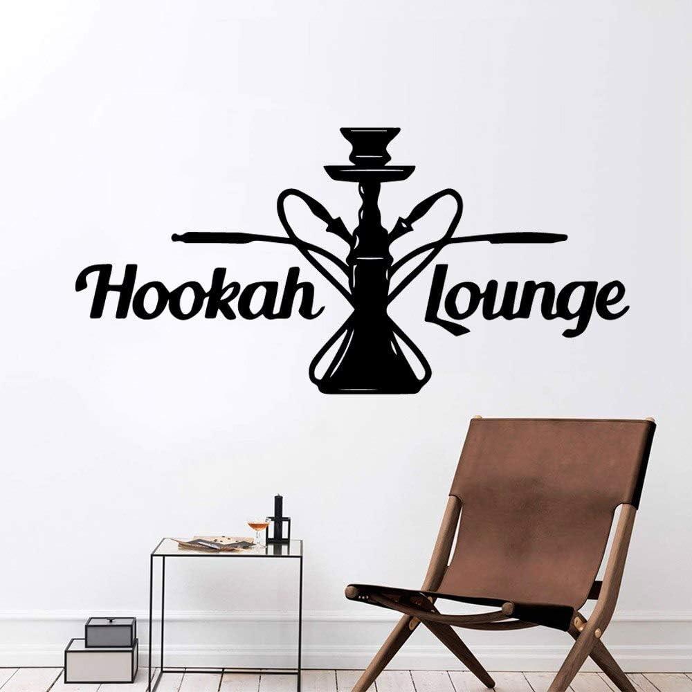 wopiaol Hookah Lounge Wall Sticker PVC Calcomanía extraíble para Shisha Store Relax Living Room Dining Cafe Bar Decoración Wall Poster