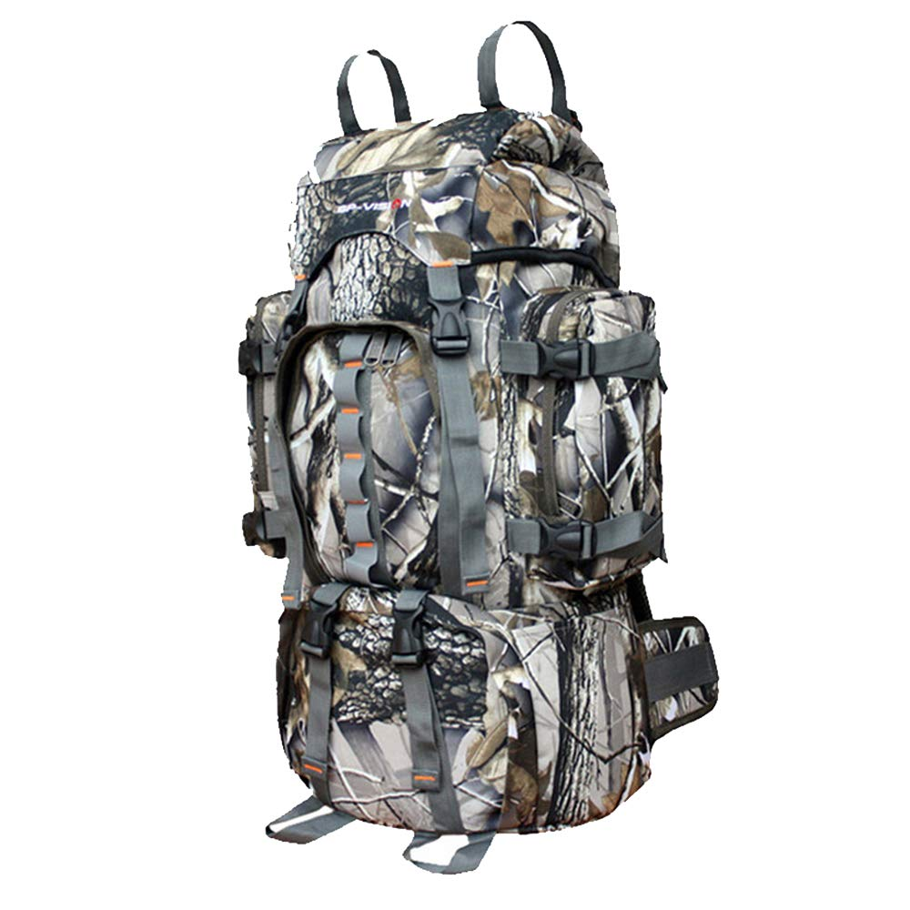 登山バッグ60 L防水と涙証拠バイオニック迷彩ミリタリーバックパック狩猟アウトドアバックパック@ファン B07SLPY31F
